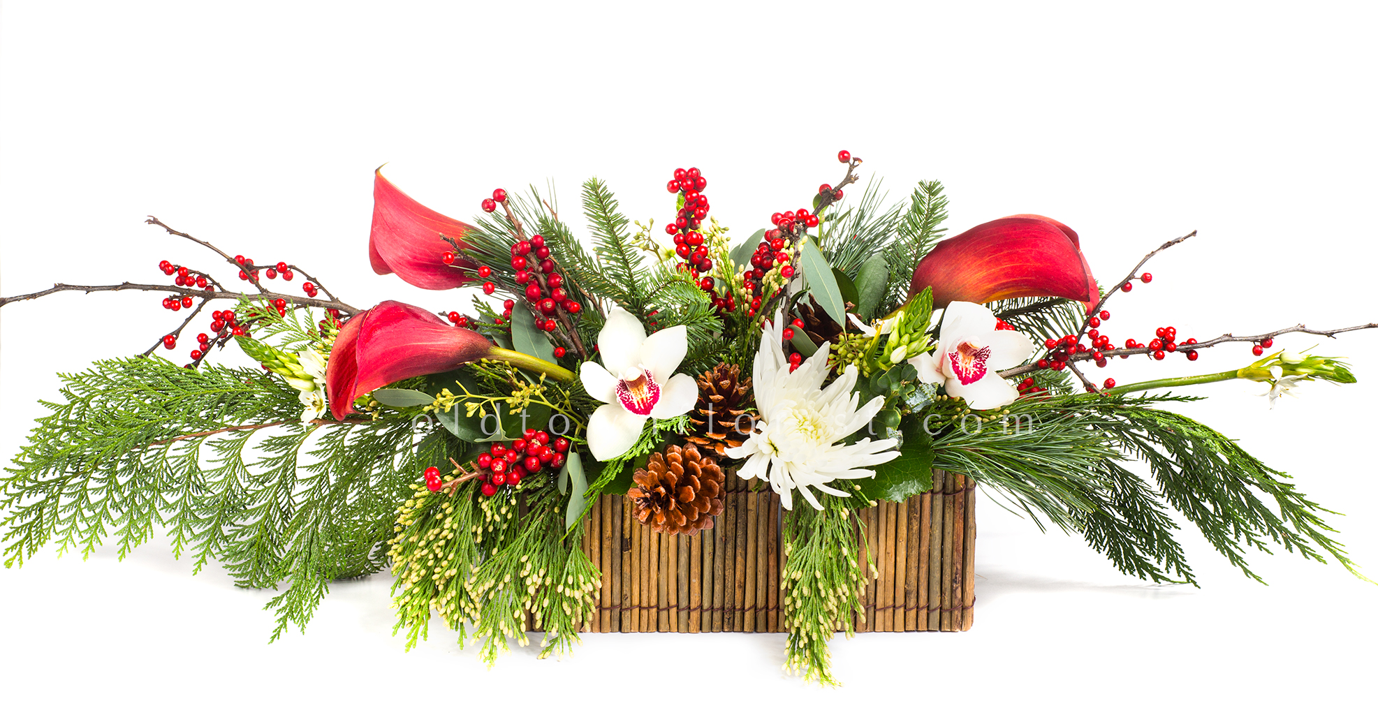 New Christmas Arrangements Portland Oregon Wedding Flowers
